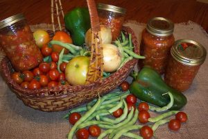 Canning salsa from your very own garden
