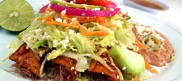 Chicken Enchiladas with Salsa de Tomatillos
